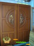 ประตูไม้สัก บานคู่  08