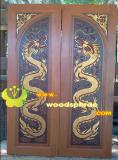 ประตูไม้สัก บานคู่  11