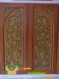 ประตูไม้สัก บานคู่  20