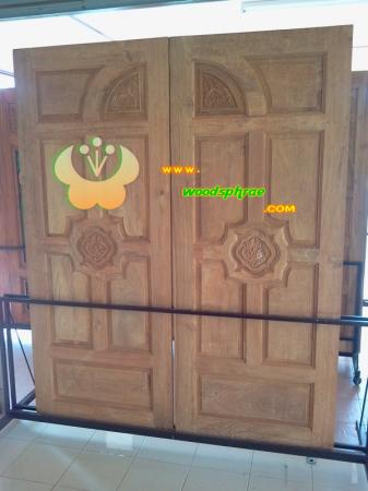 ประตูไม้สัก บานคู่ 23