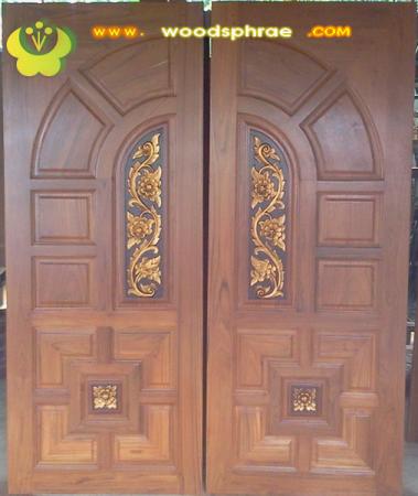 ประตูไม้สัก บานคู่ 26
