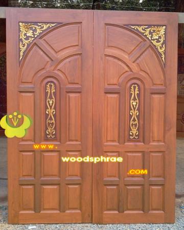 ประตูไม้สัก บานคู่ 31