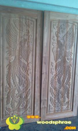 ประตูไม้สัก บานคู่ 33