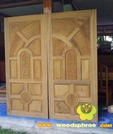 ประตูไม้สัก บานคู่ 37