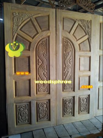 ประตูไม้สัก บานคู่ 39