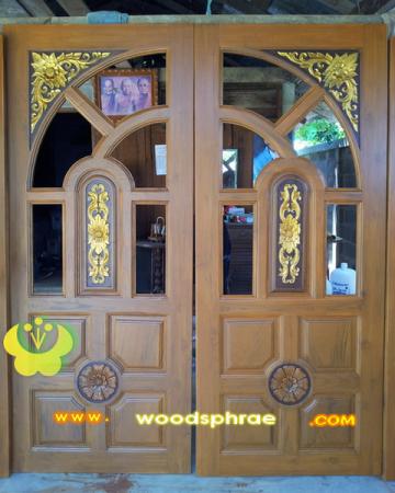 ประตูไม้สัก บานคู่ 42