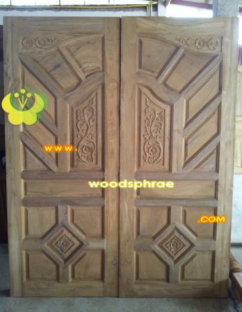 ประตูไม้สัก บานคู่ 48