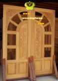 ประตูไม้สัก บานคู่ 52
