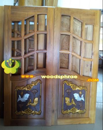 ประตูไม้สัก บานคู่ 57