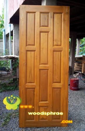 ประตูไม้สัก บานเดี่ยว 06