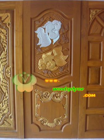 ประตูไม้สัก บานเดี่ยว 18