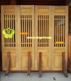 ประตูบานเฟี้ยม ไม้สักทอง 07