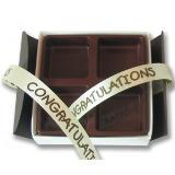 กล่องช็อคโกแลต บอลโลทิน น้ำตาล-ขาว 4 ชิ้น