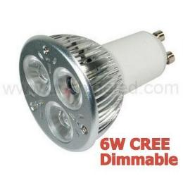 ไฟDimmable 6W GU10 bulbs CREE LED led spotlight