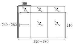 ประตูบานเลื่อนรางแขวนเดี่ยว มีบานปิดตายและช่องแสง -5
