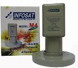 หัวรับสัญญาณจานดาวเทียม C-BAND INFOSAT M4