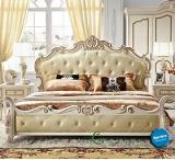 เตียงนอน Gold Vintage French leather Model- KA603C