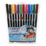 ปากกาสีเมจิก ตราม้า H-88 (แพ็ค12สี)