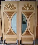 ประตูไม้ จาปาก้า(จำปา) ลายหยดน้ำ 80x200ซม.
