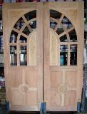 ประตูไม้ แกะโค้ง(ไม้เต็งแดง)