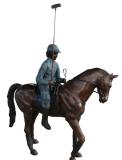 รูปปั้นผู้ชาย กับม้าโปโล SBF3-041