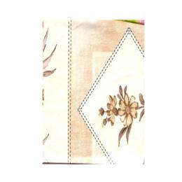 พลาสติกปูโต๊ะ table_diamond_flower_brown