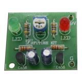 ชุดคิท วงจรไฟกระพริบ LED 2ดวง FK109