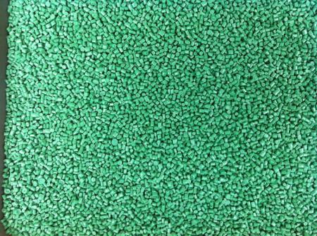 เม็ดพลาสติก HDPE รีไซเคิล เกรดฉีด สีเขียว