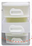 ชั้นเก็บของพลาสติก Minibox (no.1034m4)