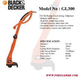 เครื่องเล็มหญ้าไฟฟ้า BLACK DECKER GL300-B1