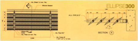 แผงอลูมิเนียมบังแดด  ELLIPSE300