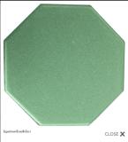อิฐแปดเหลี่ยมสีเขียว