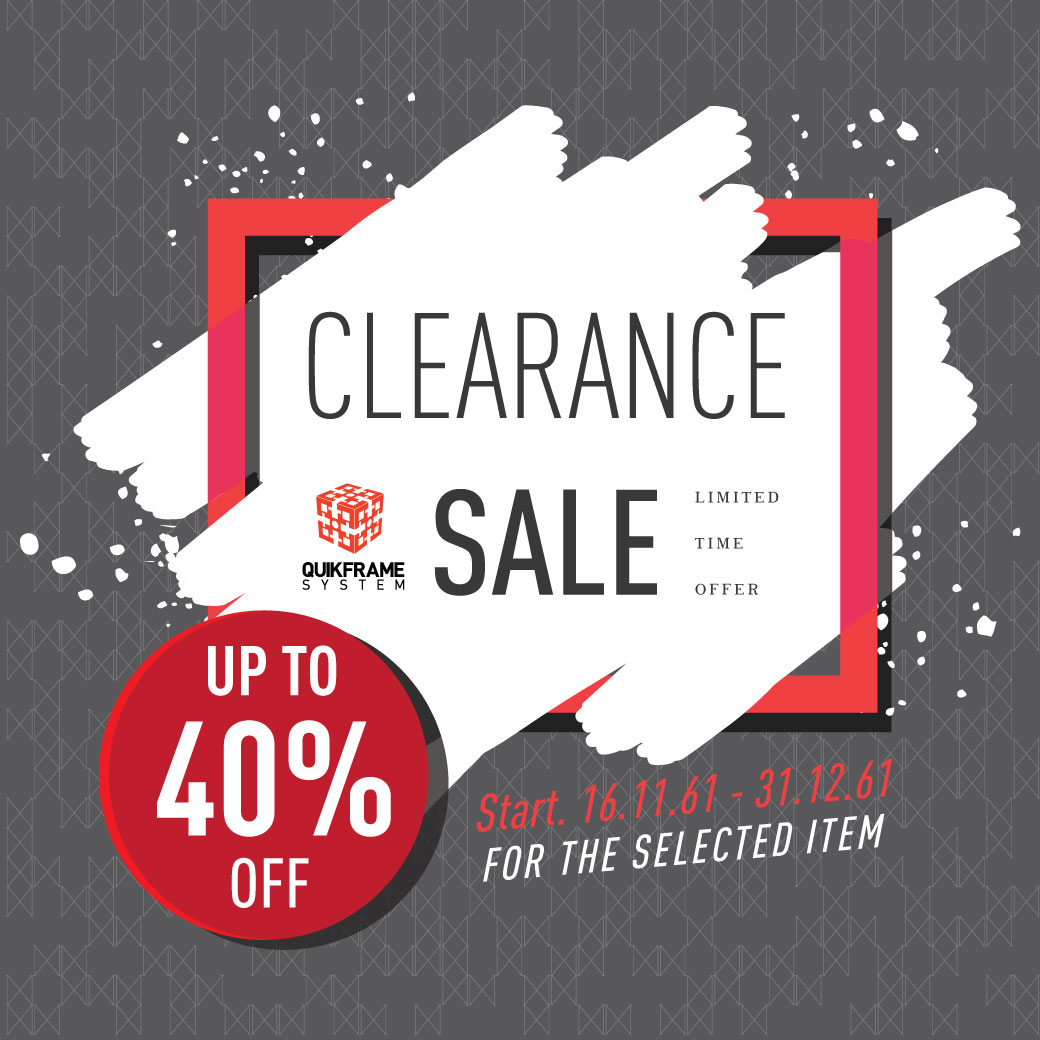 Quikframe Clearance Sale