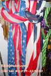 ผ้าพันคอลาย รุ่น ลายธงชาติ