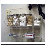 ชั้นวางกล่องหรืออุปกรณ์สำหรับห้องแลปทดสอบทางการแพทย์