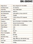 กล้องวงจรปิด 800C Series รุ่น BK-380HC