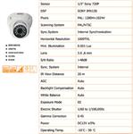 กล้องวงจรปิด CCTV รุ่น 1000C Sony Series