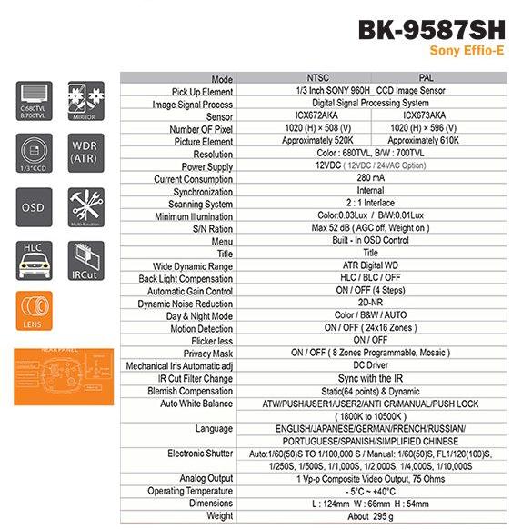กล้องจับรถวิ่ง 80กม/ชม รุ่น BK-9587SH