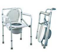เก้าอี้นั่งถ่ายพับได้พร้อมถัง