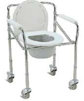 เก้าอี้นั่งถ่ายพับได้แบบมีล้อพร้อมถัง
