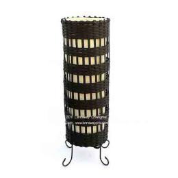 โคมไฟตั้งโต๊ะ กระบอกสานไม้ไผ่