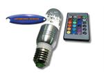 หลอด LED มนสูงรีโมท 3w