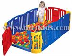 คอกกั้นเด็ก บ่อบอล ขนาดกลางพื้นที่ภายในคอกกว้างมากขึ้น ปลอดสารพิษตกค้างมั่นใจได้สำหรับเด็กเล็กค่ะ