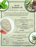 มาร์คหน้าลดสิว Acne Teatree oil Mask