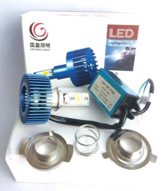 ไฟหน้า LED แปลงใส่มอไซค์  (12v 8/15w)