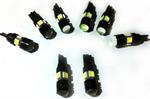 ไฟ LED รถยนต์ ขั้ว T10 3W 12v เลนส์นูน + 4 smd 5050