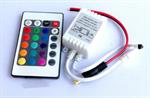 กล่องคุมไฟริบบิ้น RGB + รีโมท 24 คีย์ (445)
