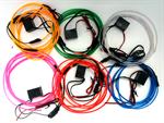 ไฟเส้น el 12V ชุด ( el wire glow light kit ) (415,416)