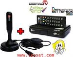 เครื่องรับสัญญาณดิจิตอลทีวี CREATECH DVB T2 + เสารับสัญญาณภายใน (ซื้อเป็นคู่)