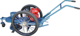 รถเข็นตัดหญ้าล้อจักรยาน